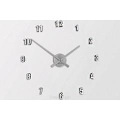 Nástenné hodiny ExitDesign Extender Mini 138SL, strieborné 50-80cm