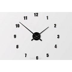 Nástenné hodiny ExitDesign Extender Mini 138BK, čierne 50-80cm