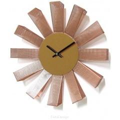 Nástenné hodiny ExitDesign Petal Copper 3063RS, 35cm