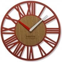 Nástenné hodiny Loft Piccolo rosso Flex z219_3d-32-x, 30 cm