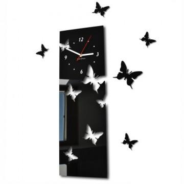3D Nalepovacie hodiny Motýle SWEEP z39an, čierne 60cm