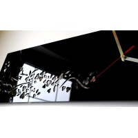 3D hodiny Motýle SWEEP z37n, čierne 60cm