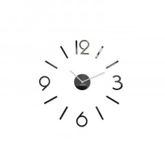 3D Nalepovacie hodiny DIY ADMIRABLE L SWEEP 54D-1, čierne 50-75cm