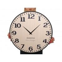 Drevené nástenné hodiny Elegante Flex z227-1d2-1-x svetlohnedé, 50 cm