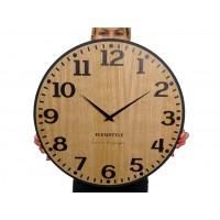 Drevené nástenné hodiny Elegante Flex z227-1d-1-x tmavohnedé, 50 cm