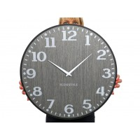 Drevené nástenné hodiny Elegante Flex z227-1d1a-0-x sivé, 50 cm