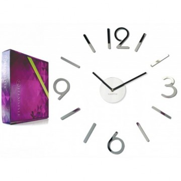 3D Nalepovacie hodiny DIY ADMIRABLE L SWEEP 54D-0, zrkadlové 50-75cm