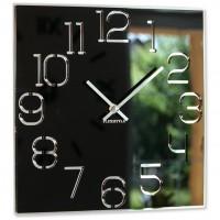Nástenné akrylové hodiny Digit Flex z120-1-0-x, 30 cm, čierne