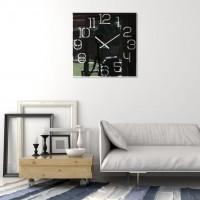 Nástenné akrylové hodiny Digit Flex z120-1-0-x, 50 cm, čierne