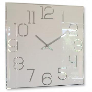 Nástenné akrylové hodiny Digit Flex z120-2-0-x, 50 cm, biele