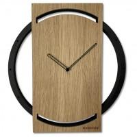 Dubové nástenné hodiny Wood oak 2 Flex z215-1d-1-x v, 32 cm