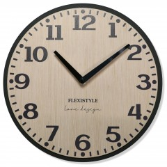 Drevené nástenné hodiny Elegante Flex z227-1d2-1-x svetlohnedé, 30 cm