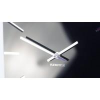 Nástenné akrylové hodiny Exact Flex z119-1-0-x, 50 cm, čierne