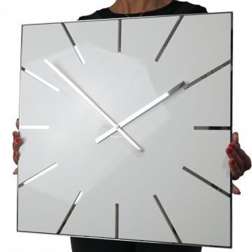 Nástenné akrylové hodiny Exact Flex z119-2-0-x, 50 cm, biele