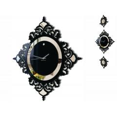 Nástenné akrylové hodiny Glamour Flex z82-1, 145 cm, čierne