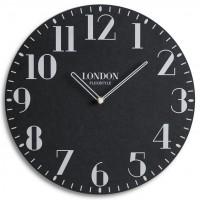 Drevené nástenné hodiny London Retro Flex z222_1-2-x, 30 cm
