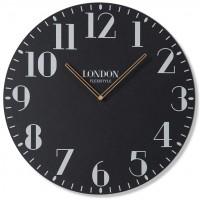 Drevené nástenné hodiny London Retro Flex z222_1-dx, 50 cm