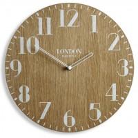 Drevené nástenné hodiny London Retro Flex z222w_d-2-x, 30 cm