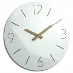 Nástenné akrylové hodiny Slim Flex z111a-2-dx, 30 cm, biele