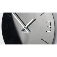 Nástenné akrylové hodiny Slim Flex z111a-1-0-x, 30 cm, čierne lesklé