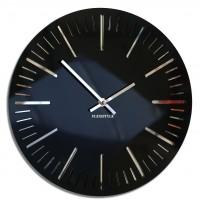 Nástenné akrylové hodiny Trim Flex z112-1-0-x, 30 cm, čierne