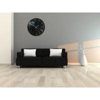 Nástenné akrylové hodiny Trim Flex z112-1-0-x, 50 cm, čierne