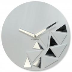 Nástenné akrylové hodiny Triangles Flex z205-2, 30 cm, biele matné