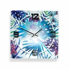 Nástenné akrylové hodiny Tropical Monstera Flex z6a-1-0, 30 cm