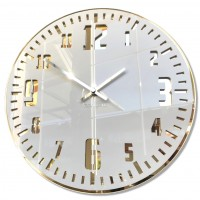 Nástenné akrylové hodiny Unique Flex z117-2-0-x, 30 cm, zlaté