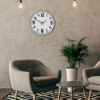 Nástenné akrylové hodiny Unique Flex z117-2-1-x, 30 cm, čiernobiele
