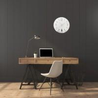 Nástenné akrylové hodiny Unique Flex z117-2-0-x, 30 cm, strieborné