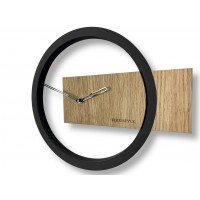 Nástenné hodiny z dubového dreva Flex z214, 32 cm