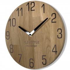 Drevené nástenné hodiny Natur dub Flex z228-d-1, 30 cm