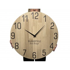 Drevené nástenné hodiny Natur dub Flex z228-d-1, 50 cm
