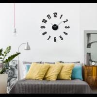3D Nalepovacie hodiny DIY ADMIRABLE L SWEEP 54a-1, 50-75cm