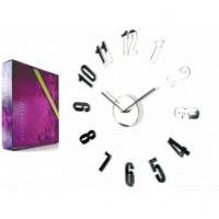 3D Nalepovacie hodiny DIY ADMIRABLE L SWEEP 54a-0, zrkadlové 50-75cm