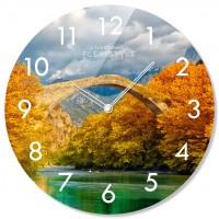 Nástenné sklenené hodiny Bridge Flex z67c s-2-x, 30 cm