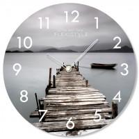 Nástenné sklenené hodiny Bridge Flex z67e s-2-x, 30 cm