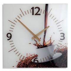 Nástenné sklenené hodiny Coffee 2 Flex z51c s-d-x, 30 cm