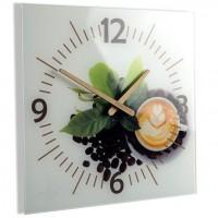 Nástenné sklenené hodiny Coffee 3 Flex z51d s-d-x, 30 cm