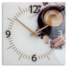 Nástenné sklenené hodiny Coffee Flex z51b s-d-x, 30 cm