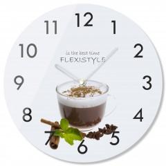 Nástenné sklenené hodiny Káva so škoricou 4 z63d s-2-x, 30 cm