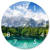 Nástenné sklenené hodiny Mountain Flex z67d s-2-x, 30 cm