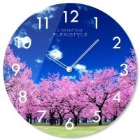 Nástenné sklenené hodiny Stromy Flex z67b s-2-x, 30 cm
