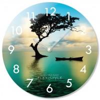 Nástenné sklenené hodiny Tree Flex z67a s-2-x, 30 cm