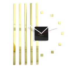Nástenné akrylové hodiny štvorce Flex z10b, 58 cm, zlaté zrkadlo