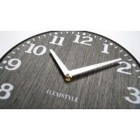 Drevené nástenné hodiny Elegante Flex z227-1d1a-0-x sivé, 30 cm