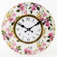 Nástenné hodiny, Flor0134, Ruže, 34cm