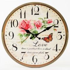 Nástenné hodiny, Flor0135, Love, 34cm