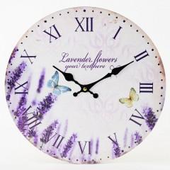Nástenné hodiny, Flor0138, Lavender, 34cm